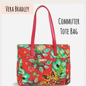 NWT Vera Bradley Commuter Tote Bag Rumba Red